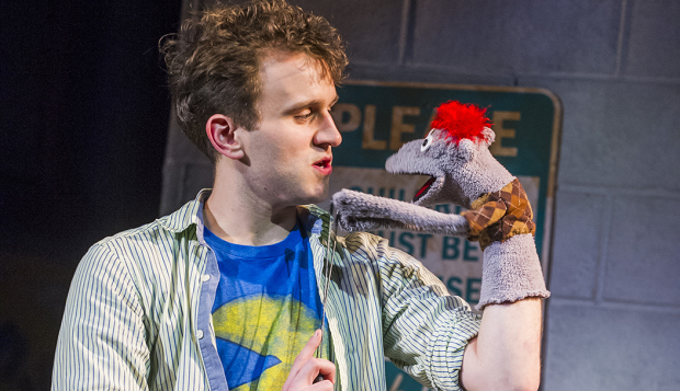 Harry Melling and Tyrone in Hand to God