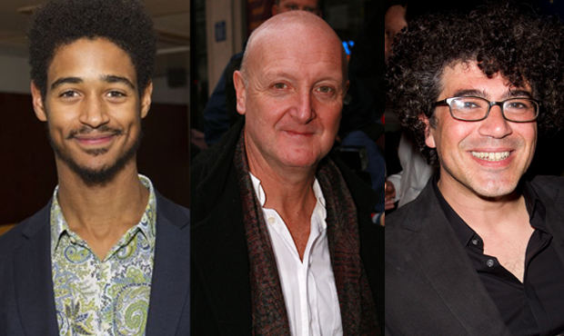 Alfred Enoch, Philip Whitchurch and Miltos Yerolemou