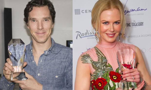 Benedict Cumberbatch and Nicole Kidman win WhatsOnStage Awards.