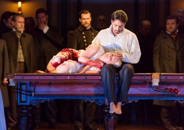 Diana Damrau as Lucia and Charles Castronovo as Edgardo in Lucia di Lammermoor (ROH)