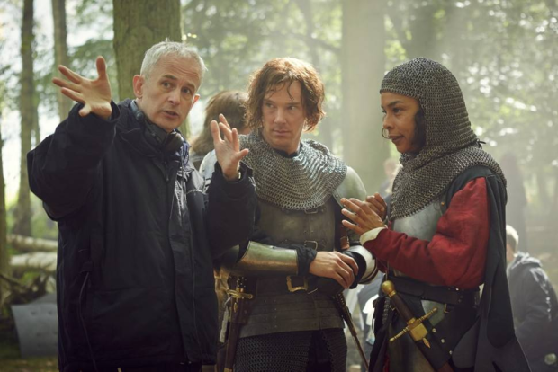 Dominic Cooke, Benedict Cumberbatch (Richard III) and Sophie Okonedo (Queen Margaret)