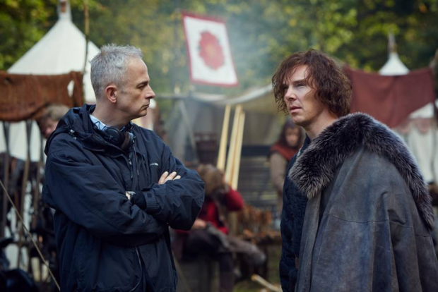 Dominic Cooke and Benedict Cumberbatch (Richard III) filming Hollow Crown
