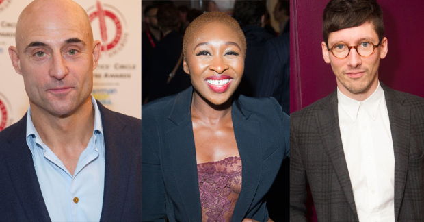 Mark Strong, Cynthia Erivo and Tom Scutt