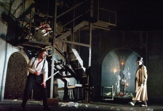 A detail from Anna Fleischle's Viennese sewer set for Don Giovanni (ETO)