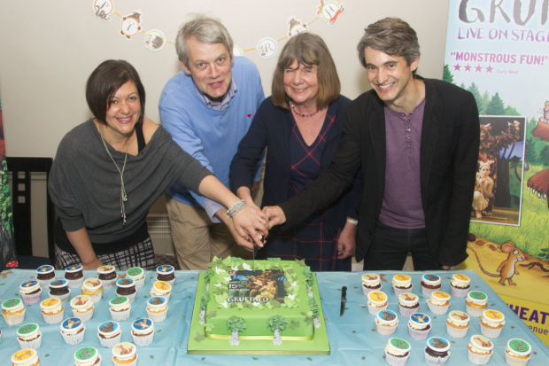 Olivia Jacobs (Director), Axel Scheffler (Ilustrator), Julia Donaldson (Author) and Toby Mitchell (Creative Producer) at The Gruffalo's 15th birthday