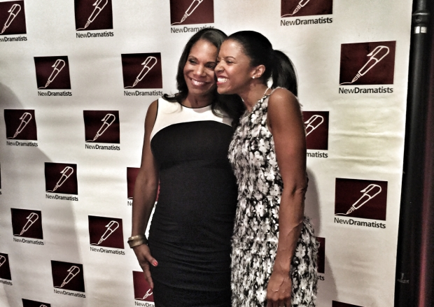 Audra McDonald and Renée Elise Goldsberry at the New Dramatists Spring Luncheon