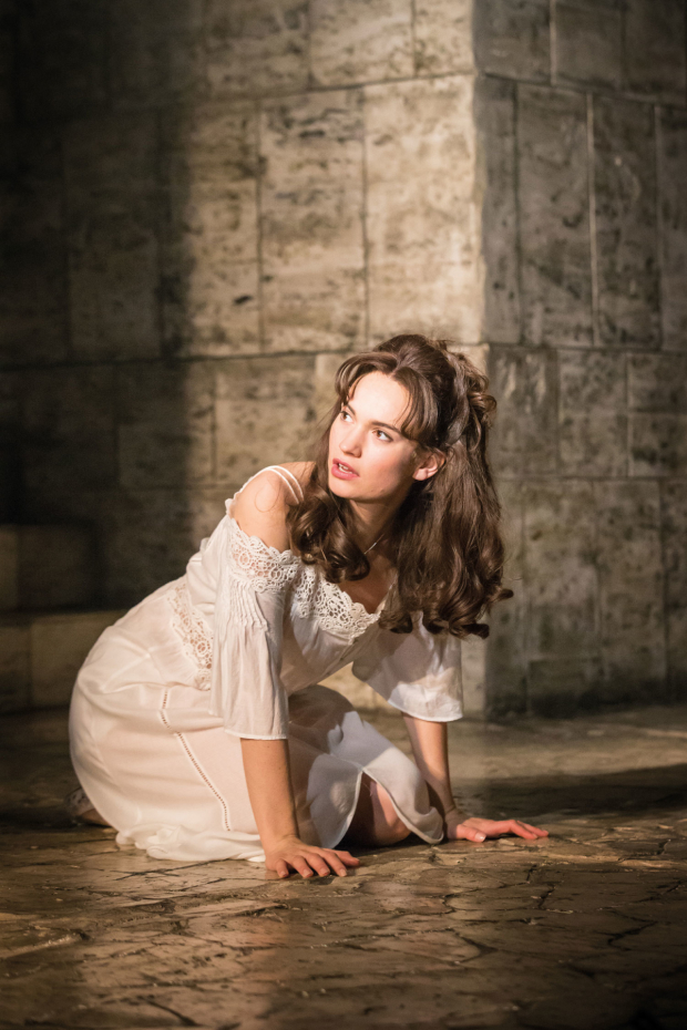 Lily James as Juliet in Romeo and Juliet