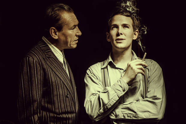 Simon Dutton (Terence Rattigan) and Paul Keating (Kenny)