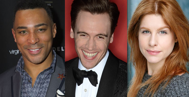 Charl Brown, Erich Bergen and Cassidy Janson