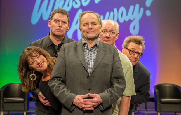 Josie Lawrence, Brad Sherwood, Clive Anderson, Colin Mochrie and Greg Proops