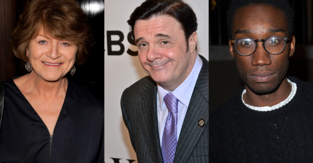 Susan Brown, Nathan Lane and Nathan Stewart-Jarrett