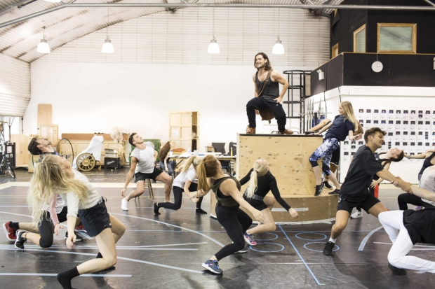 The cast of Wicked in rehearsals