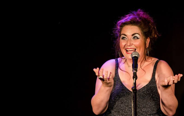 Katie Brennan performs in her show Quarter-Life Crisis