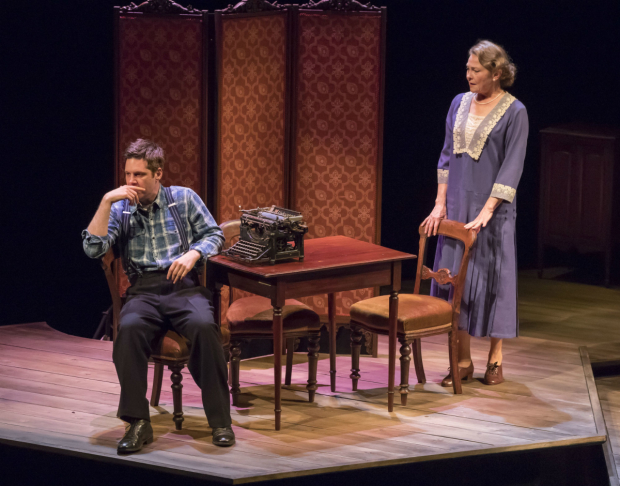 Michael Asper and Cherry Jones in The Glass Menagerie