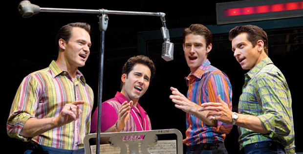 Andy Karl (far right) in Jersey Boys