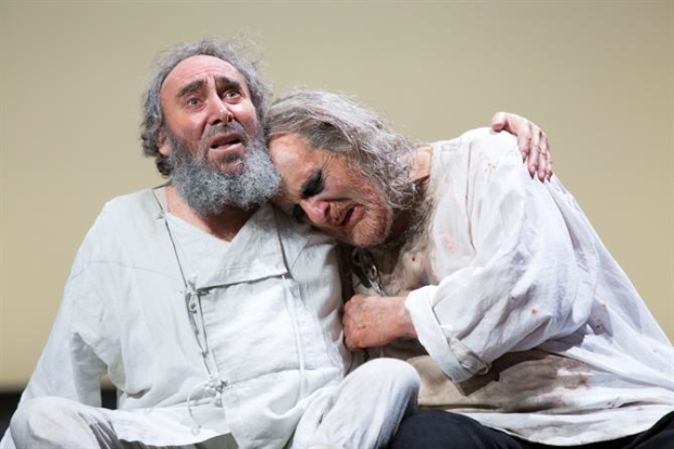 Antony Sher as King Lear and David Troughton as Earl of Gloucester in King Lear