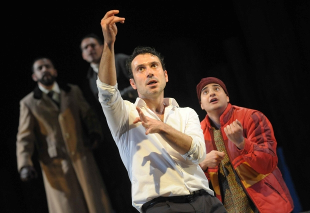 Ben Turner and the cast of the original production of The Kite Runner