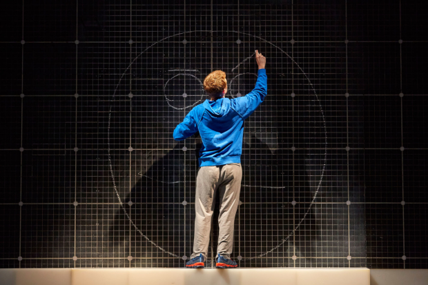 Joseph Ayre as Christopher in The Curious Incident of the Dog in the Night-Time