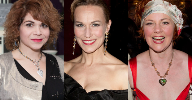 Debbie Chazen, Joanna Riding and Sophie-Louise Dann who will star in The Girls