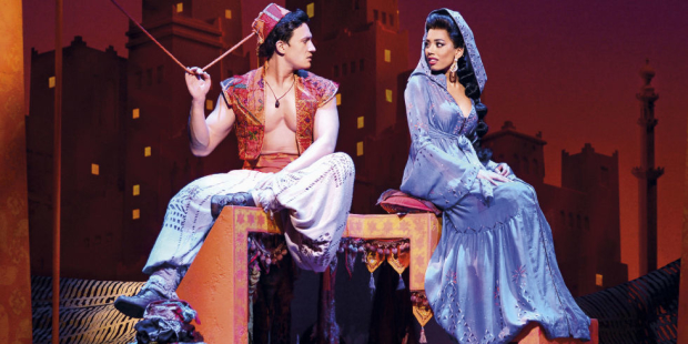 Dean-John Wilson and Jade Ewen in Aladdin