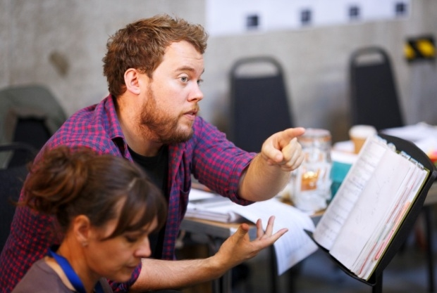 Lloyd Wood in rehearsal for Don Giovanni (Glyndebourne Tour)