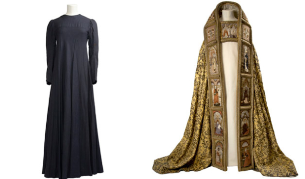 Dress worn by Judi Dench as Lady Macbeth and the cloak work by Ian McKellen as Macbeth in 1976