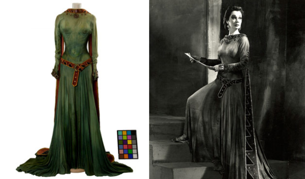 The dress worn by Vivienne Leigh as lady Macbeth in 1955