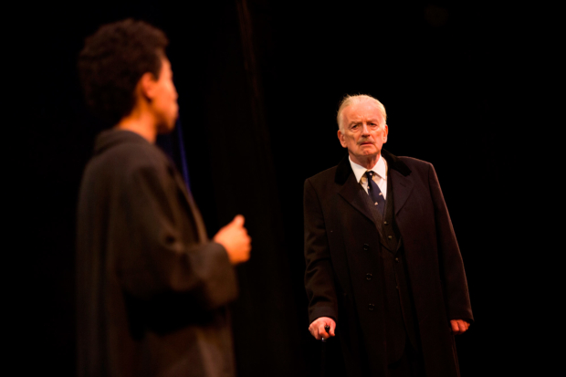 Rebecca Scroggs as Rose Cruickshank and Ian McDiarmid as Enoch Powell   in What Shadows