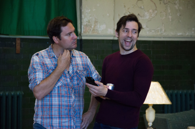 Rufus Jones and Ralf Little in rehearsals for Dead Funny
