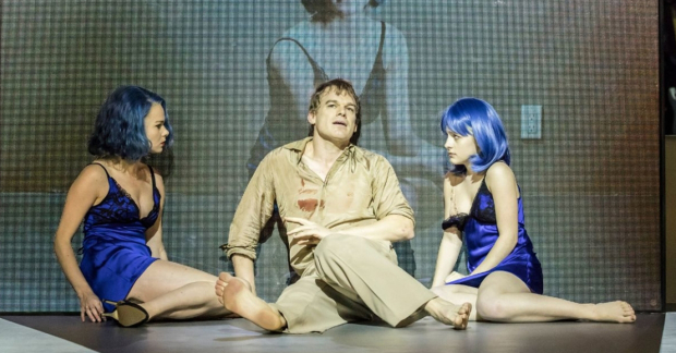 Amy Lennox, Michael C Hall and Sophia Anne Caruso in Lazarus