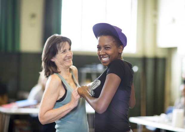 Harriet Walter and Jade Anouka in rehearsals for The Tempest