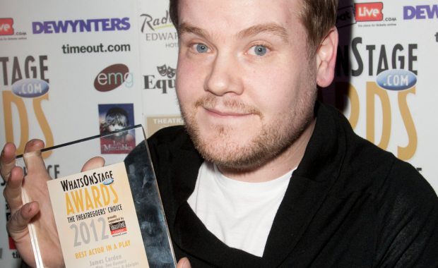James Corden picking up his #WOSAward in 2012