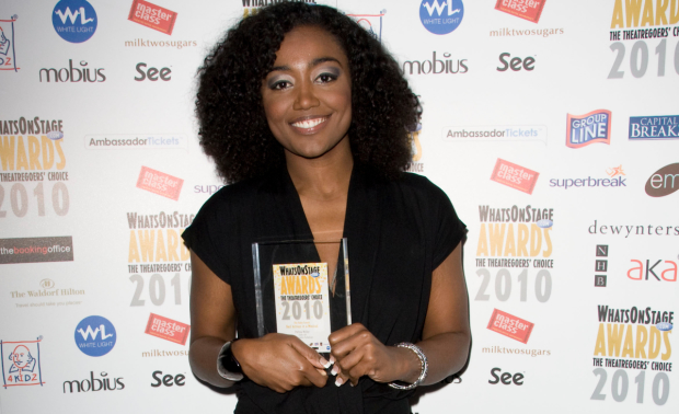 Patina Miller and her 2010 WhatsOnStage Award