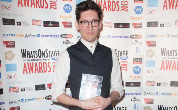 Tom Scutt clutches his award in 2013