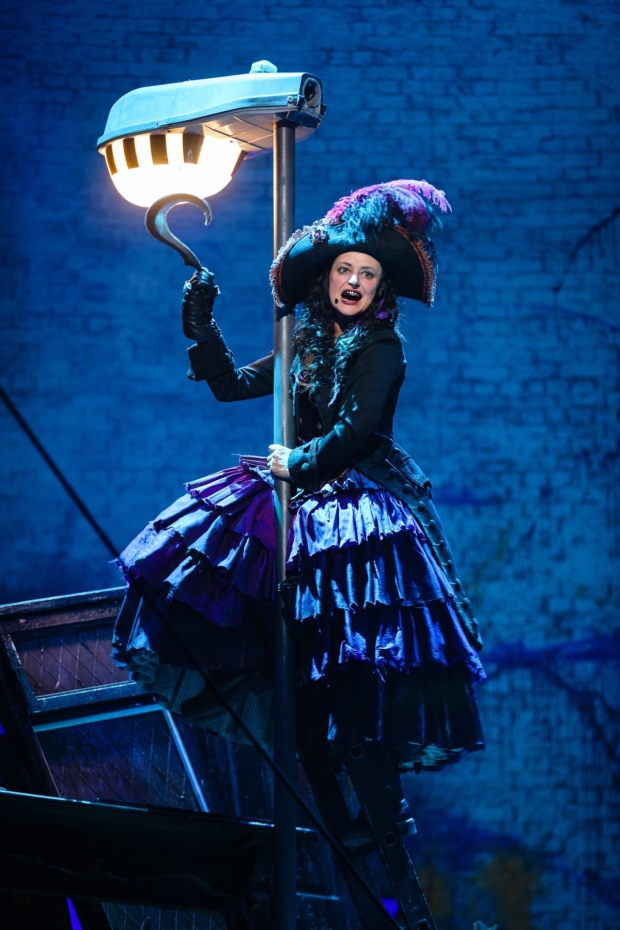 Anna Francolini as Captain Hook in Peter Pan