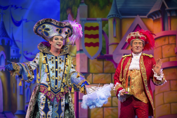 Julian Clary (Dandini) and Nigel Havers (Lord Chamberlain)