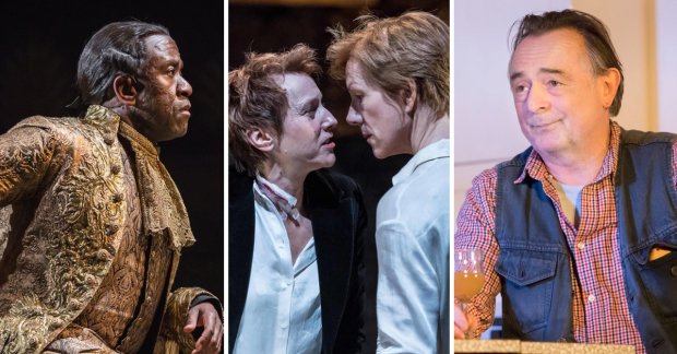 Lucian Msamati in Amadeus Lia Williams and Juliet Stevenson in Mary Stuart Ron Cook in The Children