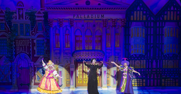Suzie Chard, Paul O'Grady and Wendy Sommerville in Cinderella at the London Palladium