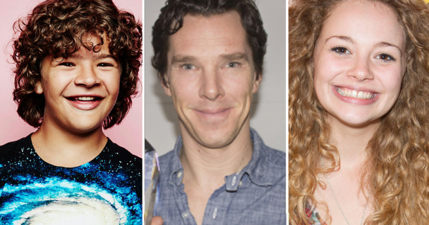 Gaten Matarazzo, Benedict Cumberbatch and Carrie Hope Fletcher