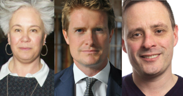 Emma Rice, Tristram Hunt and Mark Ball