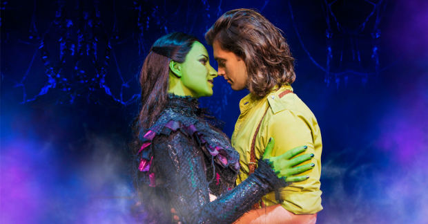 Jacqueline Hughes and Bradley Jaden as Elphaba and Fiyero