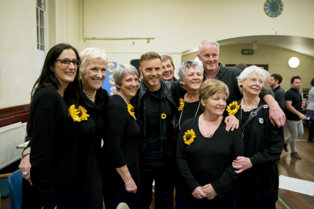 Gary Barlow, Tim Firth and the original Calendar Girls