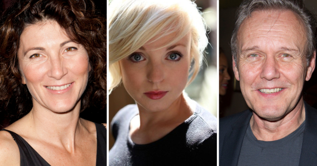 Eve Best, Helen George and Anthony Head