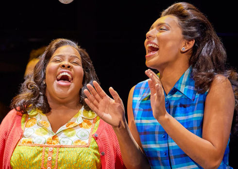 Amber Riley and Liisi LaFontaine