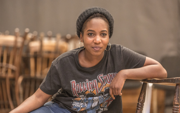 Tamara Lawrance in rehearsals for Twelfth Night