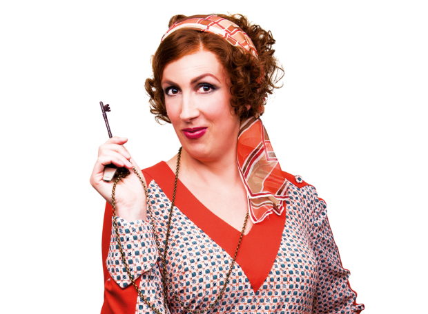 Miranda Hart at Miss Hannigan
