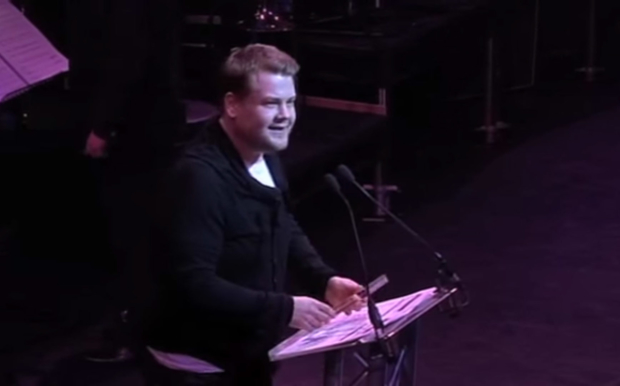 Corden looking