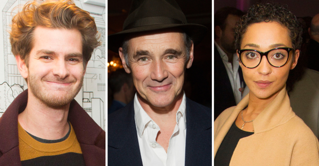 Andrew Garfield, Mark Rylance and Ruth Negga