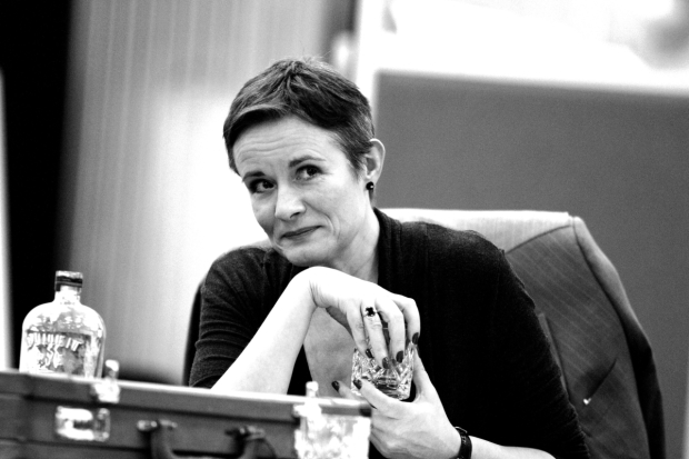 Catherine Russell in rehearsals fo What the Butler Saw