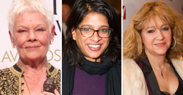 Judi Dench, Indhu Rubasingham and Sonia Friedman